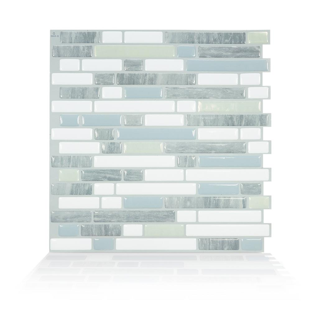 SmartTiles Smart Tiles Bellagio Costa 10.06 in. W x 10.00 in. H Peel and Stick Self-Adhesive Decorative Mosaic Wall Tile Backsplash (4-Pack)