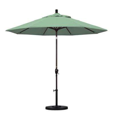 9 ft. Aluminum Push Tilt Patio Umbrella in Spa Pacifica
