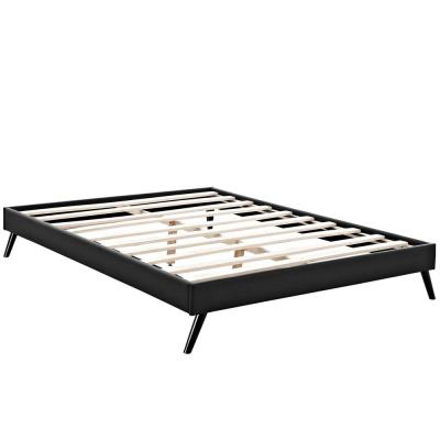 Loryn Black Queen Bed Frame with Round Splayed Legs