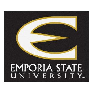NCAA Emporia State University Black 5 ft. x 6 ft. Area Rug