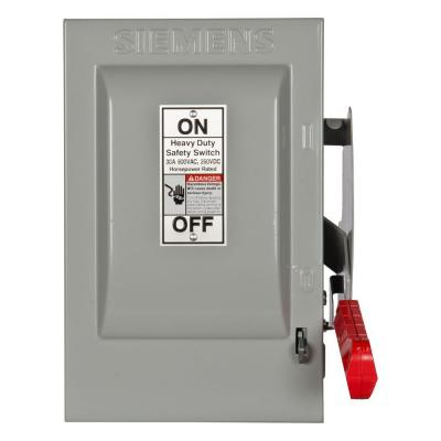 Heavy Duty 30 Amp 600-Volt 3-Pole Indoor Non-Fusible Safety Switch
