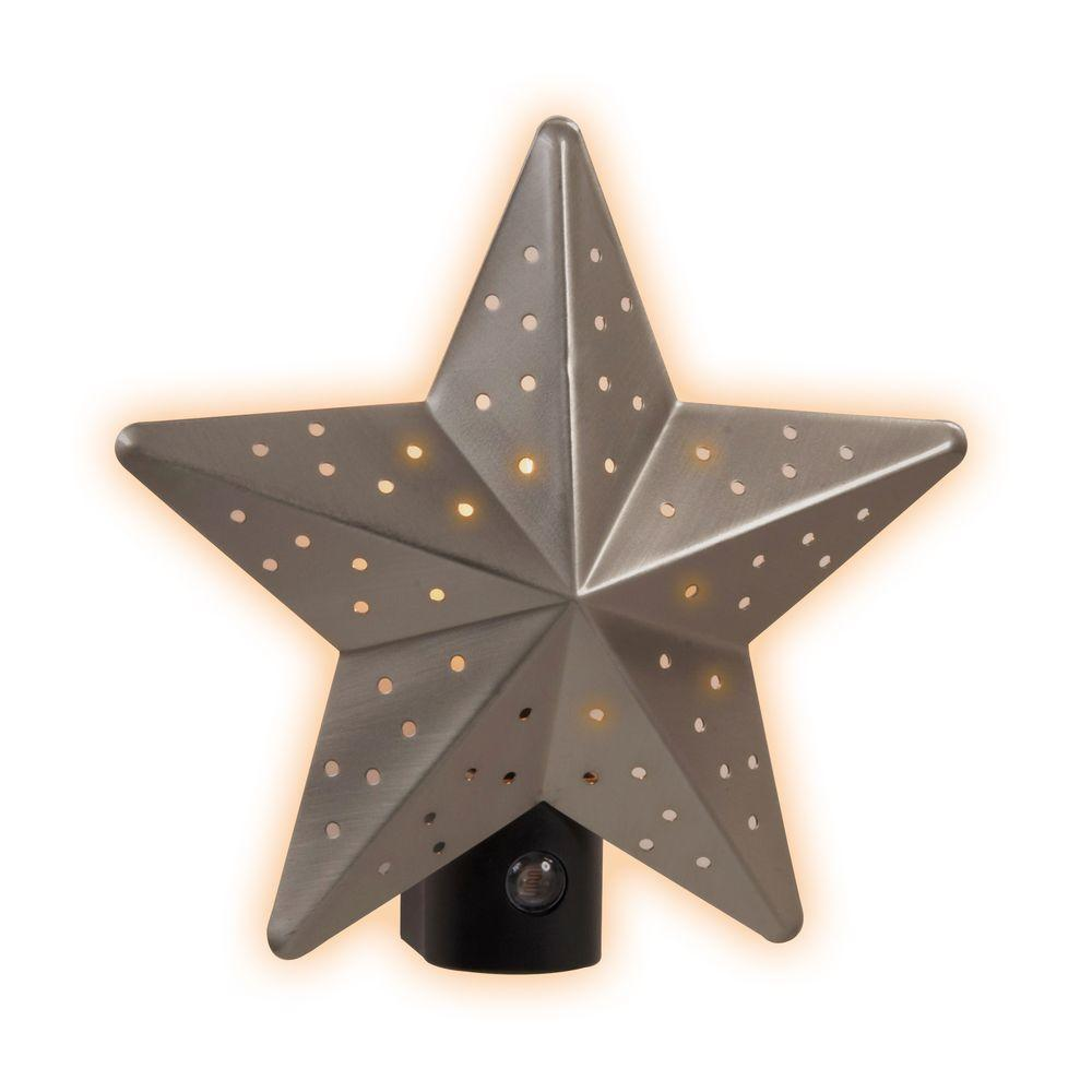 Amerelle Tin Star Satin Nickel Automatic Night Light