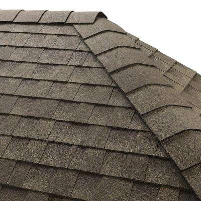 Timbertex Weathered Wood Hip and Ridge Shingles (20 linear ft. per Bundle)