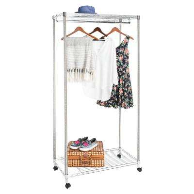 Daisy 36 in. x 72.4 in. Chrome Garment Rack