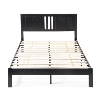 Norland  Black Wood Queen Bed Frame