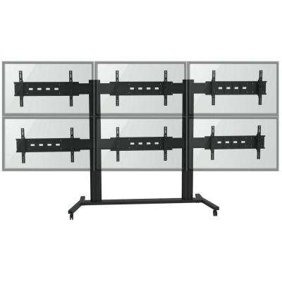 TygerClaw TV Wall for Six 30 in. - 60 in. Flat Panel TV