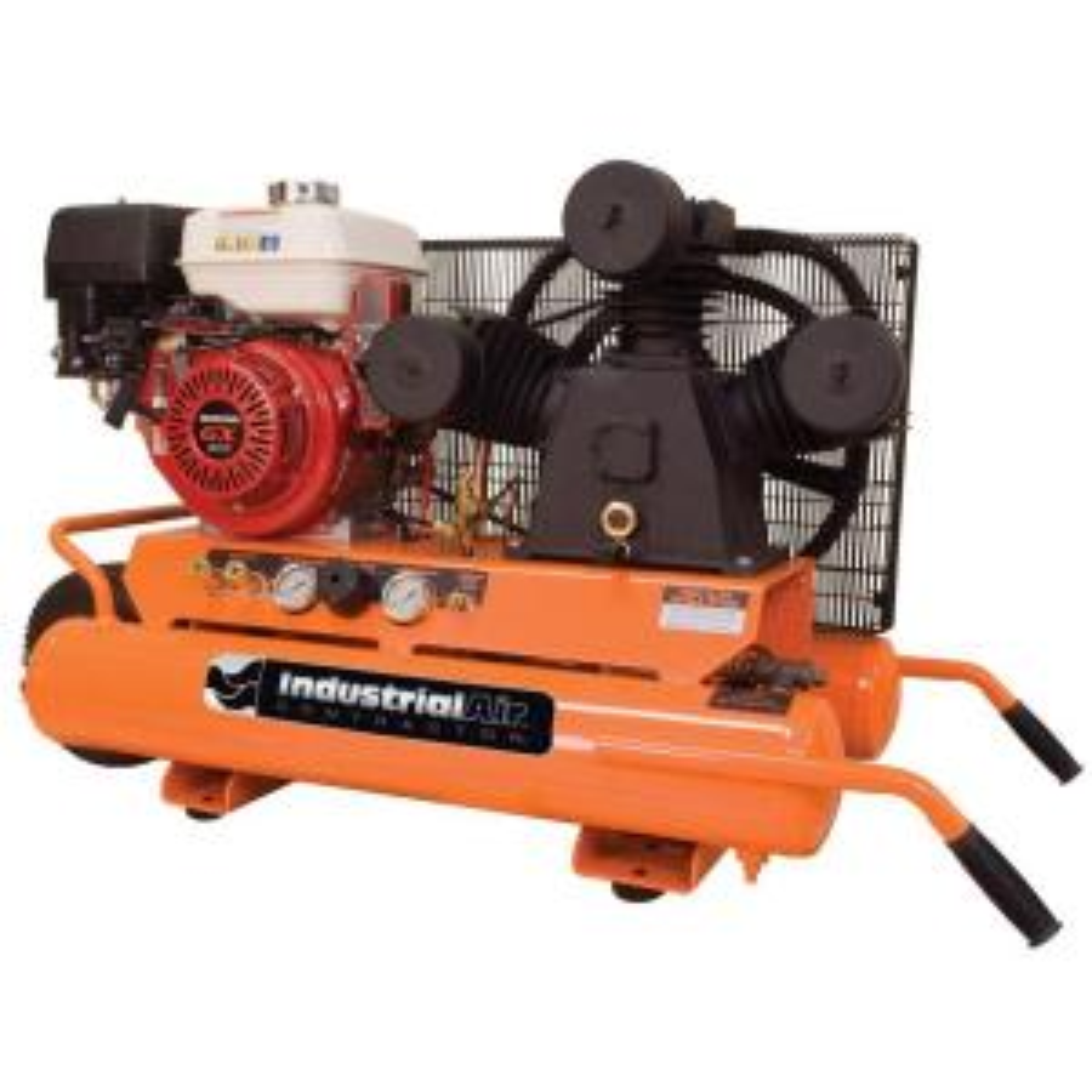 Industrial Air 9 Gal. Portable Wheelbarrow Air Compressor with 9 HP Electric Start Honda Gas Engine by Industrial Air