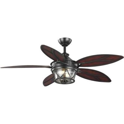 Alfresco 54 in. Architectural Bronze Ceiling Fan with Light