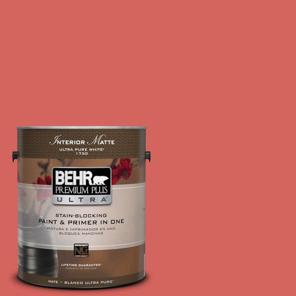 BEHR Premium Plus Ultra Home Decorators Collection 1 gal. #HDC-MD-05 Desert Coral Flat/Matte Interior Paint