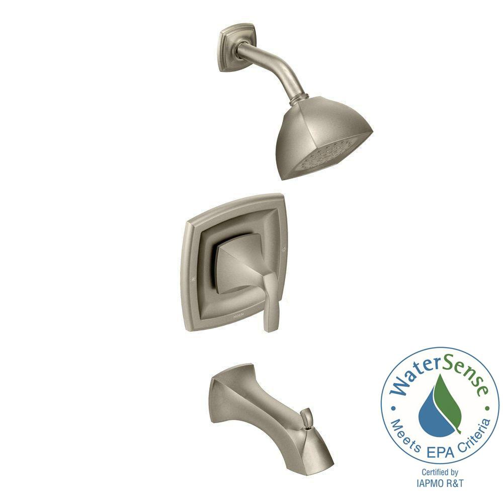 Voss Posi-Temp Single-Handle Tub and Shower Trim Kit in Brushed Nickel