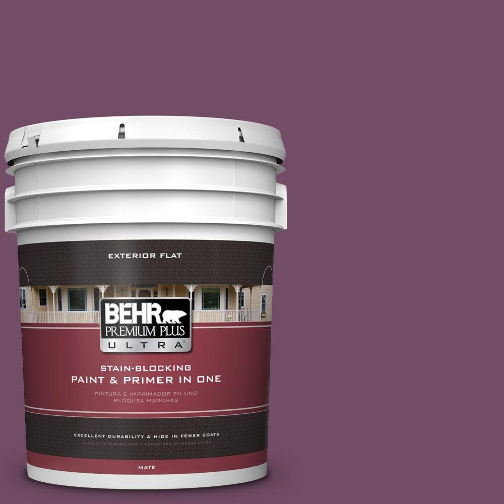 BEHR Premium Plus Ultra 5-gal. #690D-7 Radicchio Flat Exterior Paint