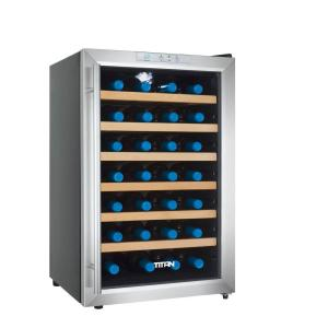 Titan 28 Bottle Single Zone Thermoelectric Wine Cooler Tt Cwctefs28sz The Home Depot