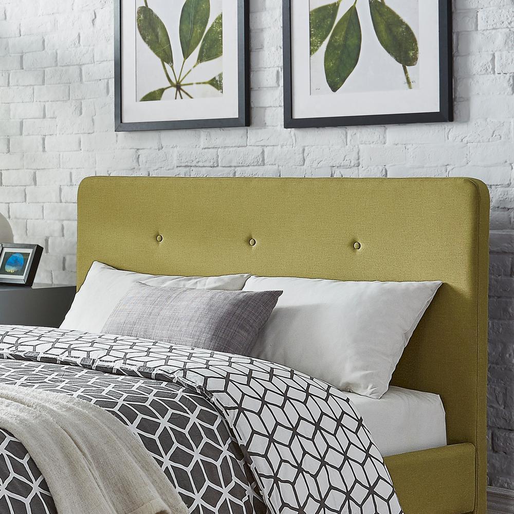 HomeSullivan Veronica Mid Century Chartreuse King Headboard