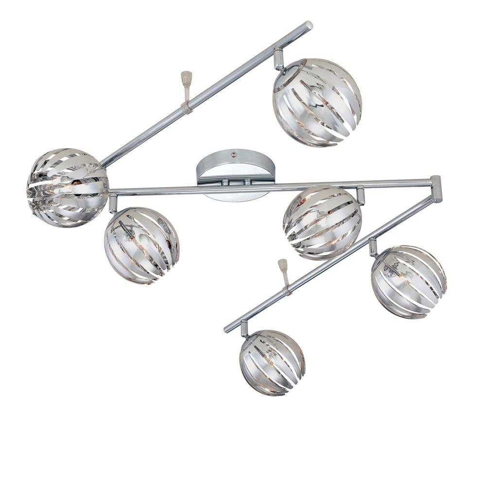 Eurofase Cosmo Collection 6-Light Chrome Track Lighting