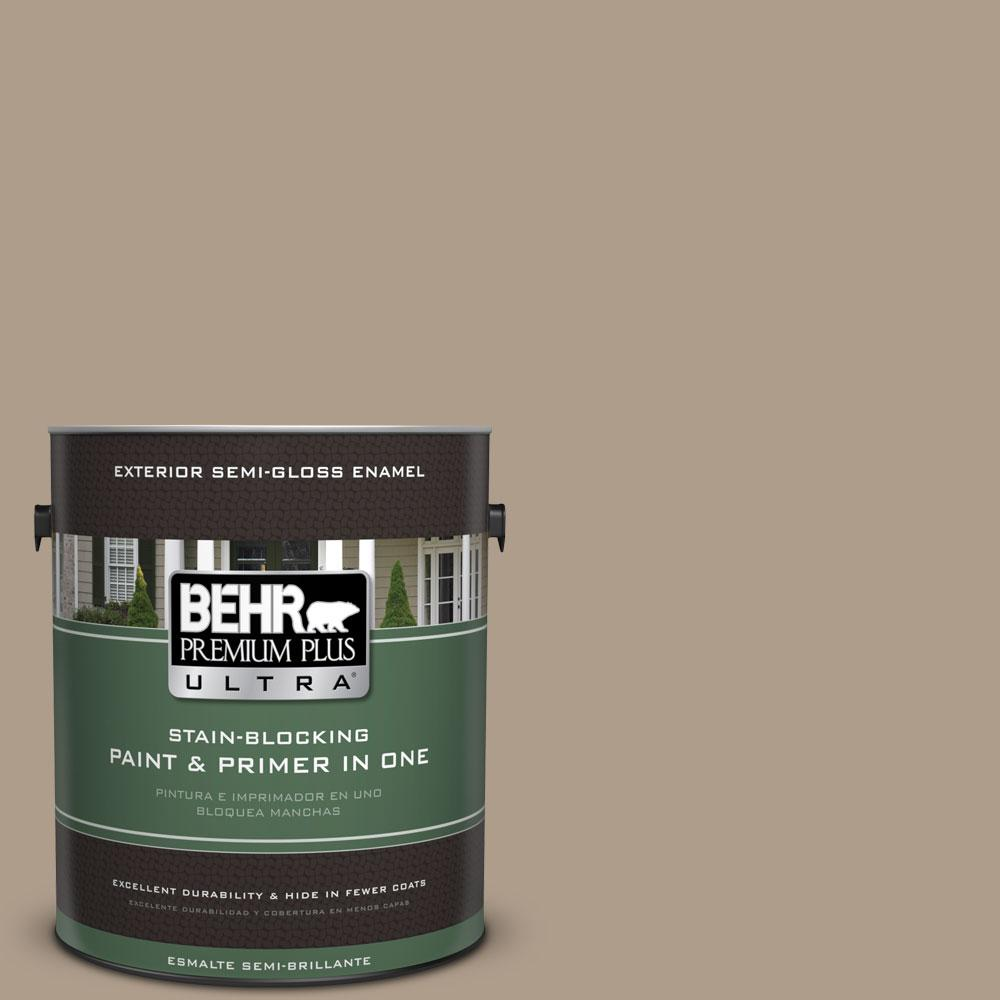 BEHR Premium Plus Ultra 1-gal. #BNC-14 Over the Taupe Semi-Gloss Enamel Exterior Paint