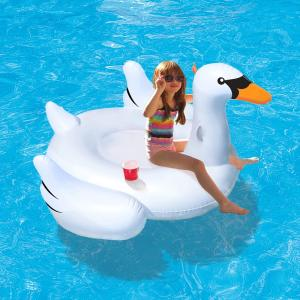 Blue Wave Elegant Giant Swan 73 In Inflatable Ride On
