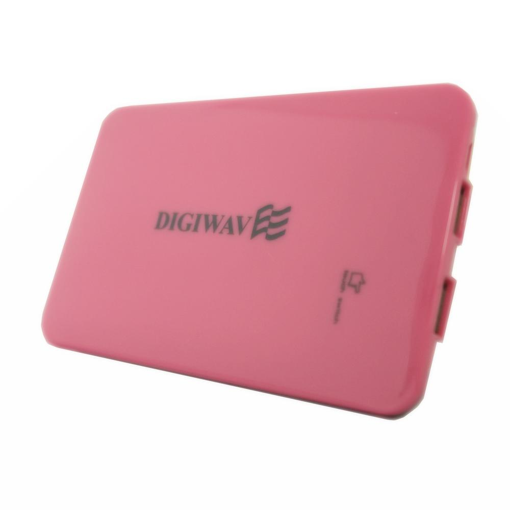 Homevision Technology Digiwave 9000mAh Portable Smart Power Bank, Pink Digiwave DCP1090P Portable Smart Powerbank is portable emergency back up power supply for your devices and this also can charge up to 2 devices at the same time. This stylish designed powerbank adopts intelligent circuits to enable safe charging with its four layer circuit protection. This smart powerbank is compatible and able to charge all standard smart phones, tablets, iPods, iPads, MP3 players, cameras and portable gaming consoles. Color: Pink.