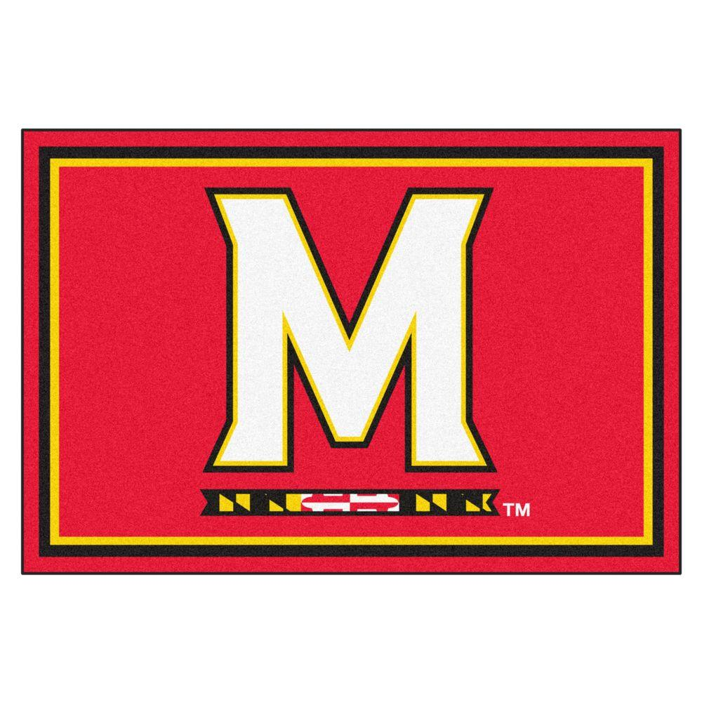 FANMATS University Of Maryland 5 Ft X 8 Area Rug 6991 The Home Depot