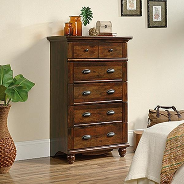 SAUDER Harbor View 5-Drawer Curado Cherry Chest 420465