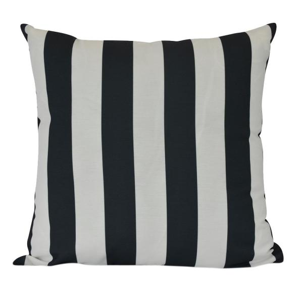 20 in. Rugby Stripe Indoor Decorative Pillow PS866GY6-20
