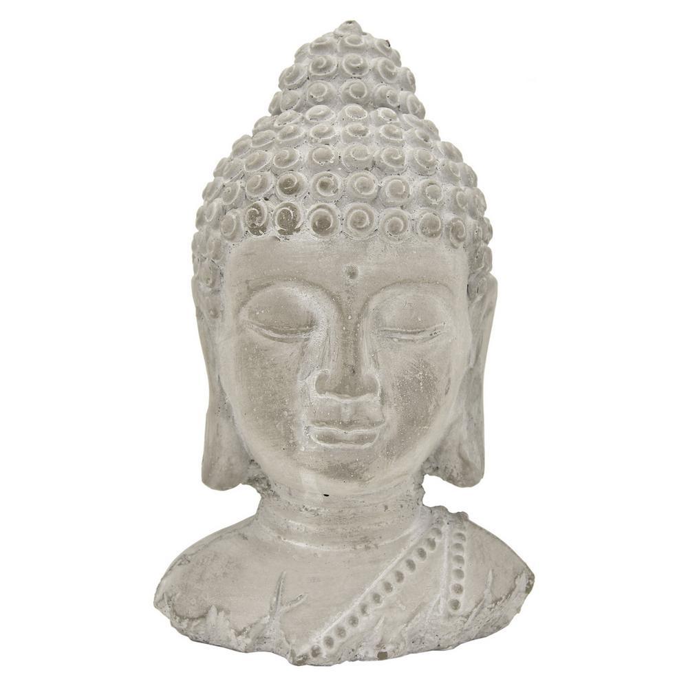 3c3cc5a2e THREE HANDS 10.75 in. Buddha Head 52288 - The Home Depot
