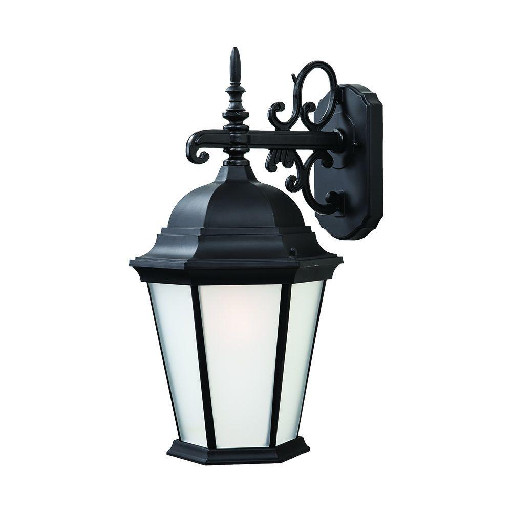 Acclaim Lighting Outdoor Wall Lights Richmond Collection 1-Light Matte Black Outdoor Wall Mount Light Fixture