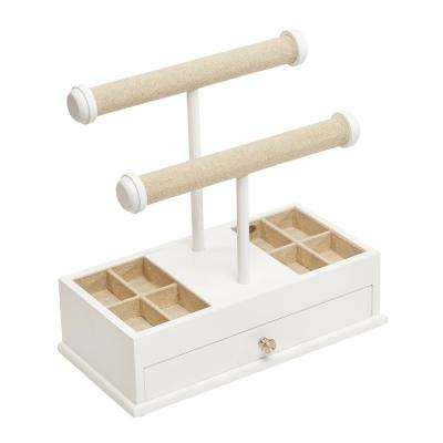 Ivy White Wooden Jewelry Box