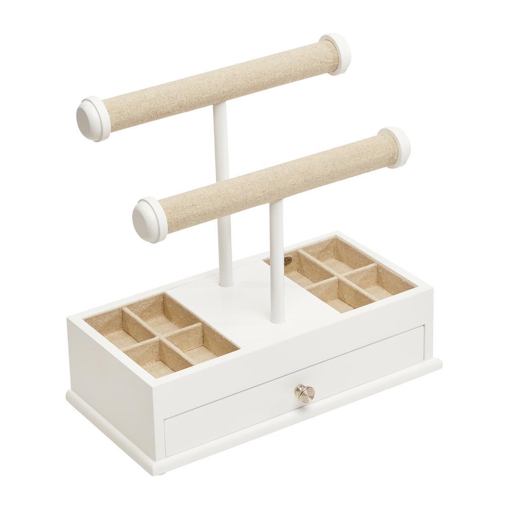 Ivy White Wooden Jewelry Box