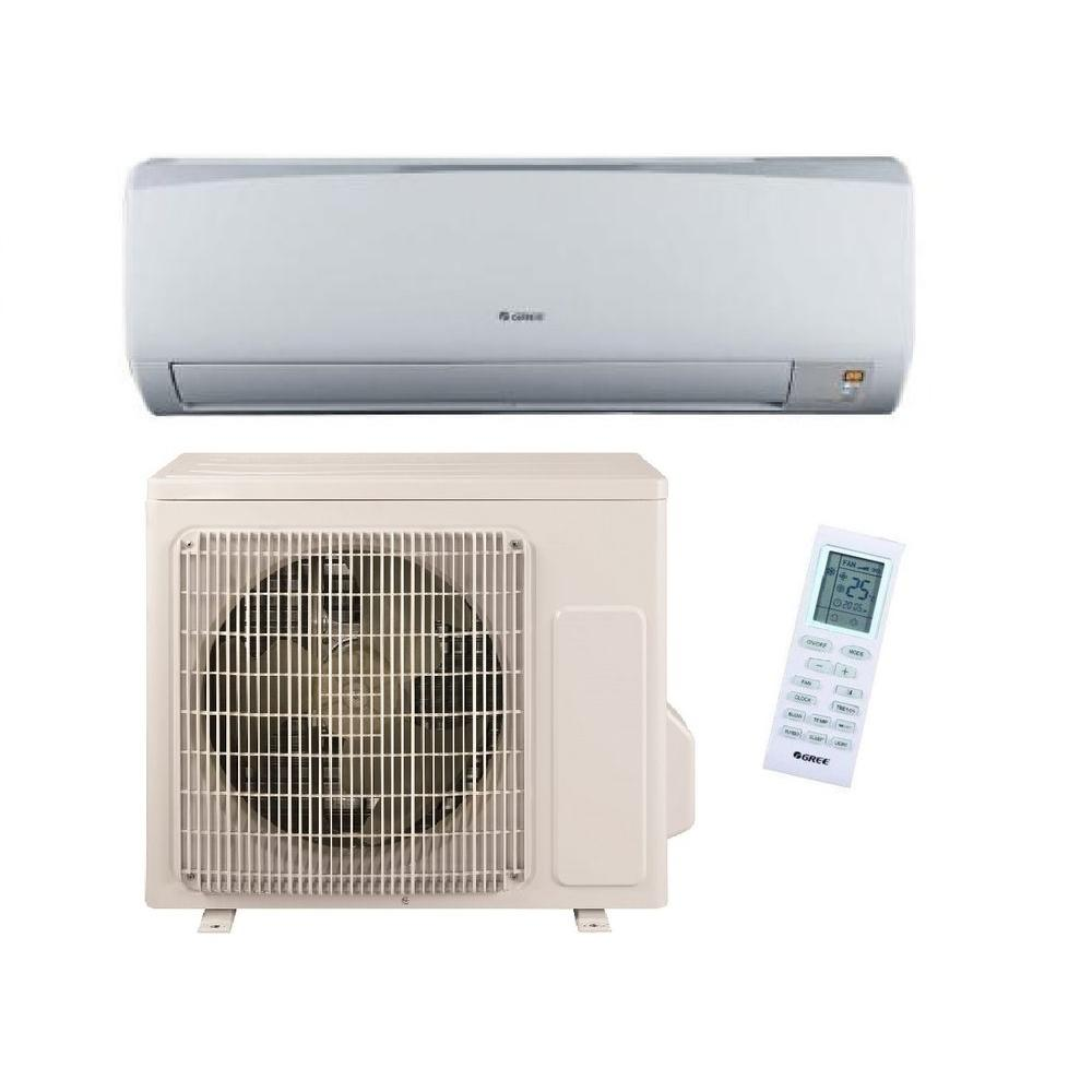 GREE High Efficiency 9,000 BTU (3/4 Ton) Ductless (Duct Free) Mini Split Air Conditioner with Inverter Heat and Remote 115V