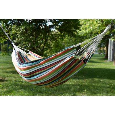 13 ft. Brazilian Sunbrella Double Hammock without stand in Carousel Confetti