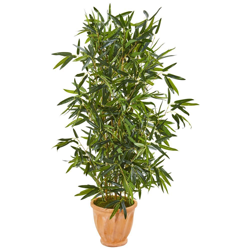 Indoor/Outdoor 4.5-Ft. Bamboo Artificial Tree in Terra Cotta Planter