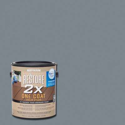1 gal. 2X Slate Solid Deck Stain with NeverWet