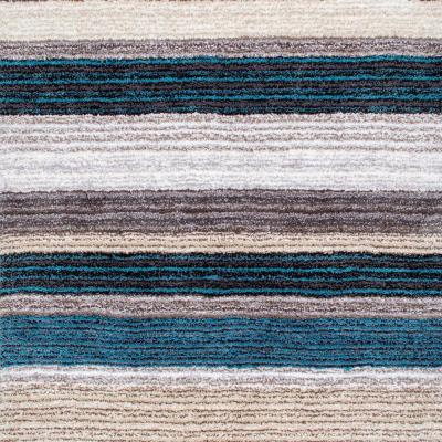 Drey Ombre Shag Blue Multi 4 ft. Square Rug