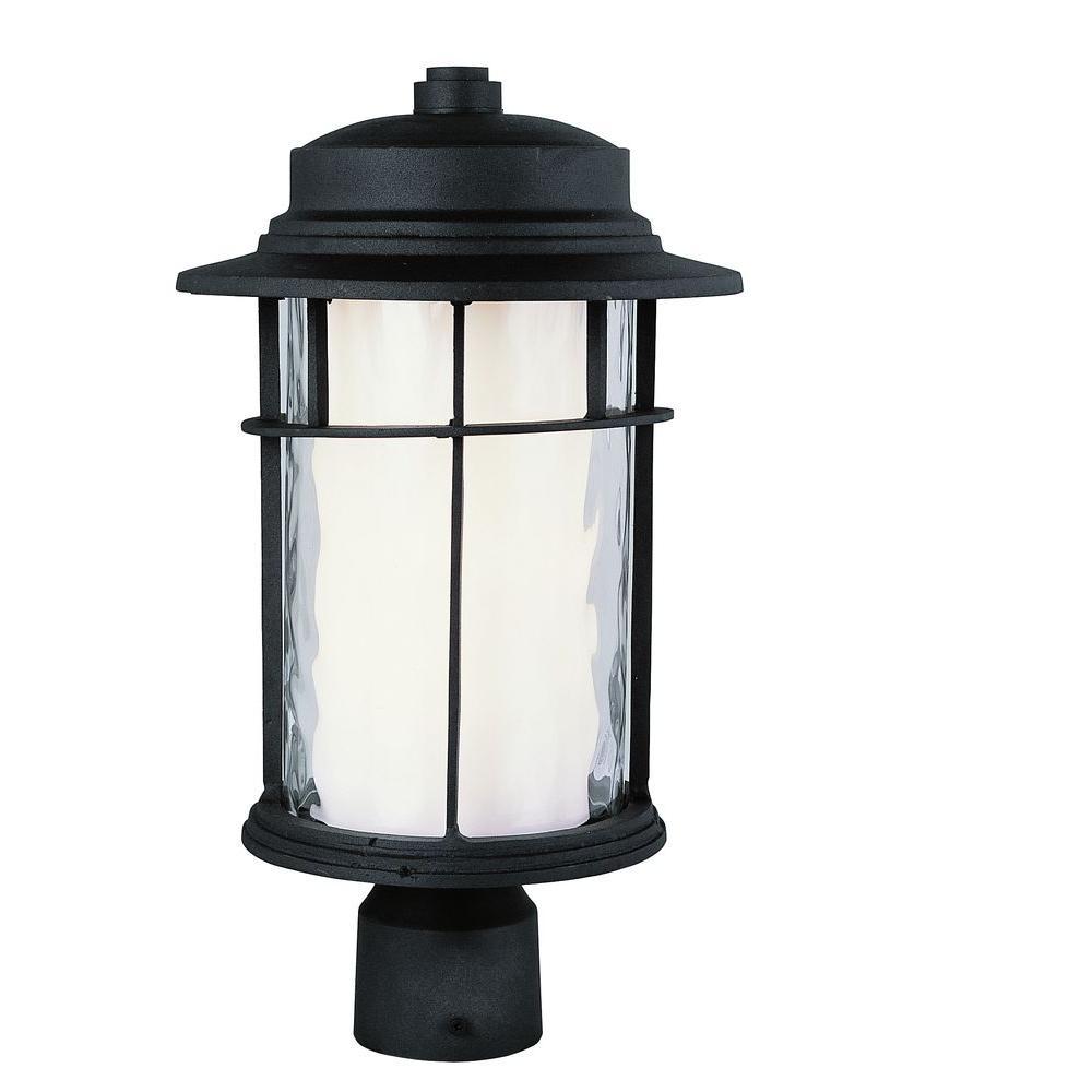 Bel Air Lighting 1-Light Black Medium Outdoor Post Top Light