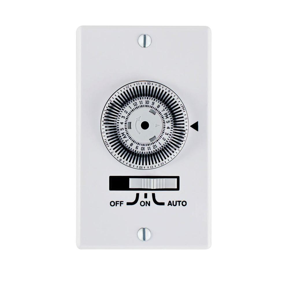 white intermatic timers km2st 1g 64_1000 intermatic 20 amp electromechanical spst in wall dial timer km2st  at gsmportal.co