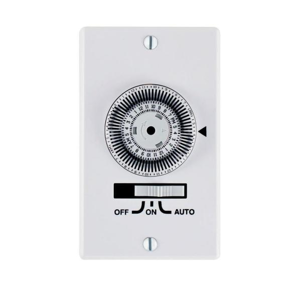 20 Amp Electromechanical SPST In-Wall Dial Timer
