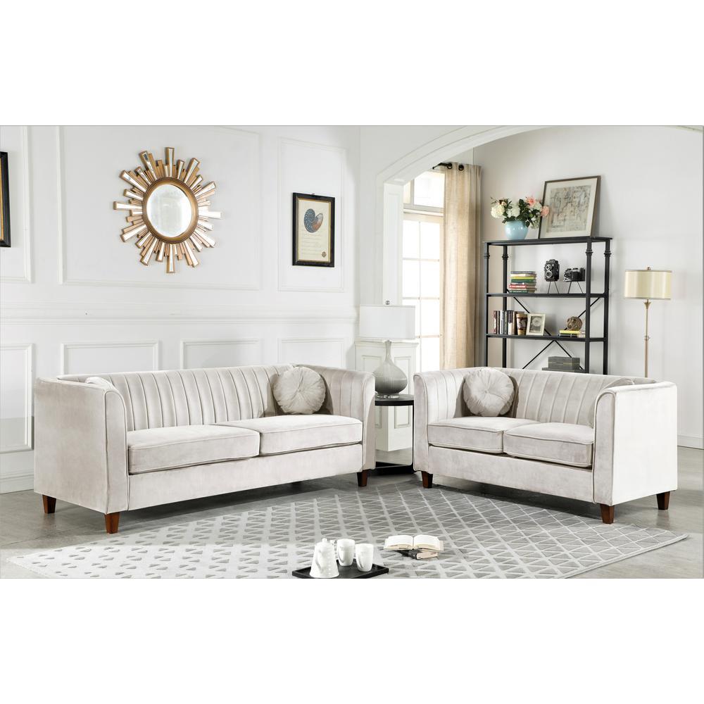 Excellent Lowery Velvet Kitts Classic Chesterfield Sofa Beige Short Links Chair Design For Home Short Linksinfo