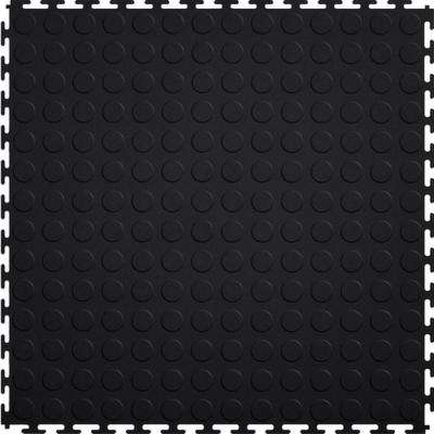 Coin 1.71 ft. Width x 1.71 ft. Length Black PVC Garage Flooring