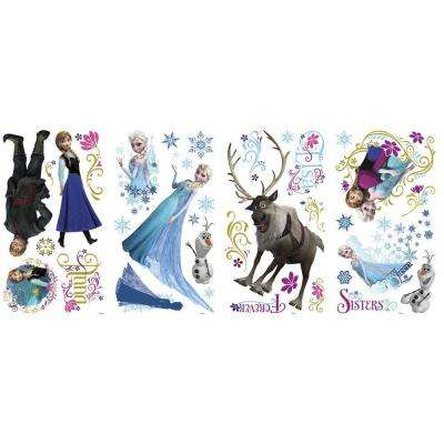5 in. x 19 in. Frozen Peel and Stick Wall Decals
