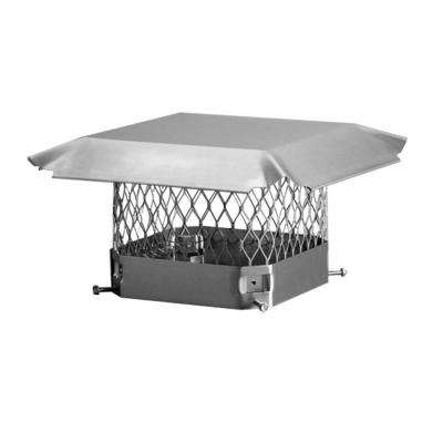 11 in. x 11 in. Bolt-On Single Flue Chimney Cap in Stainless Steel