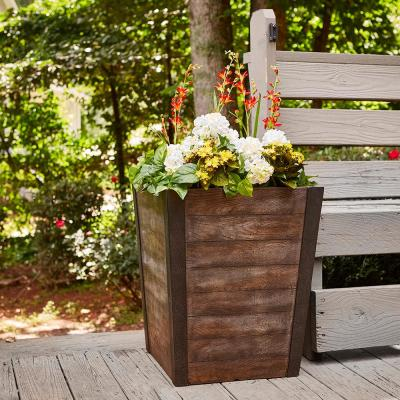 Farmhill 18 in. x 22 in. Brown Resin Tall Planter