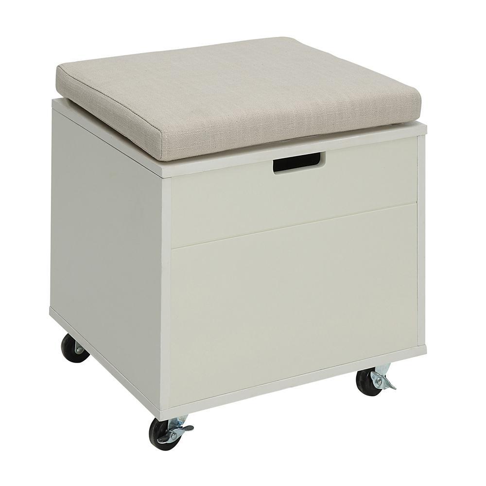 Sadie Polar White Small Office File Bench