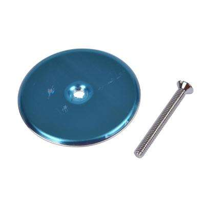 3 in. Round Cover Plate in Stainless Steel
