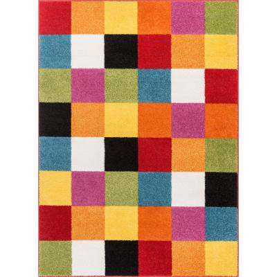 StarBright Bright Square Multi 5 ft. x 7 ft. Kids Area Rug