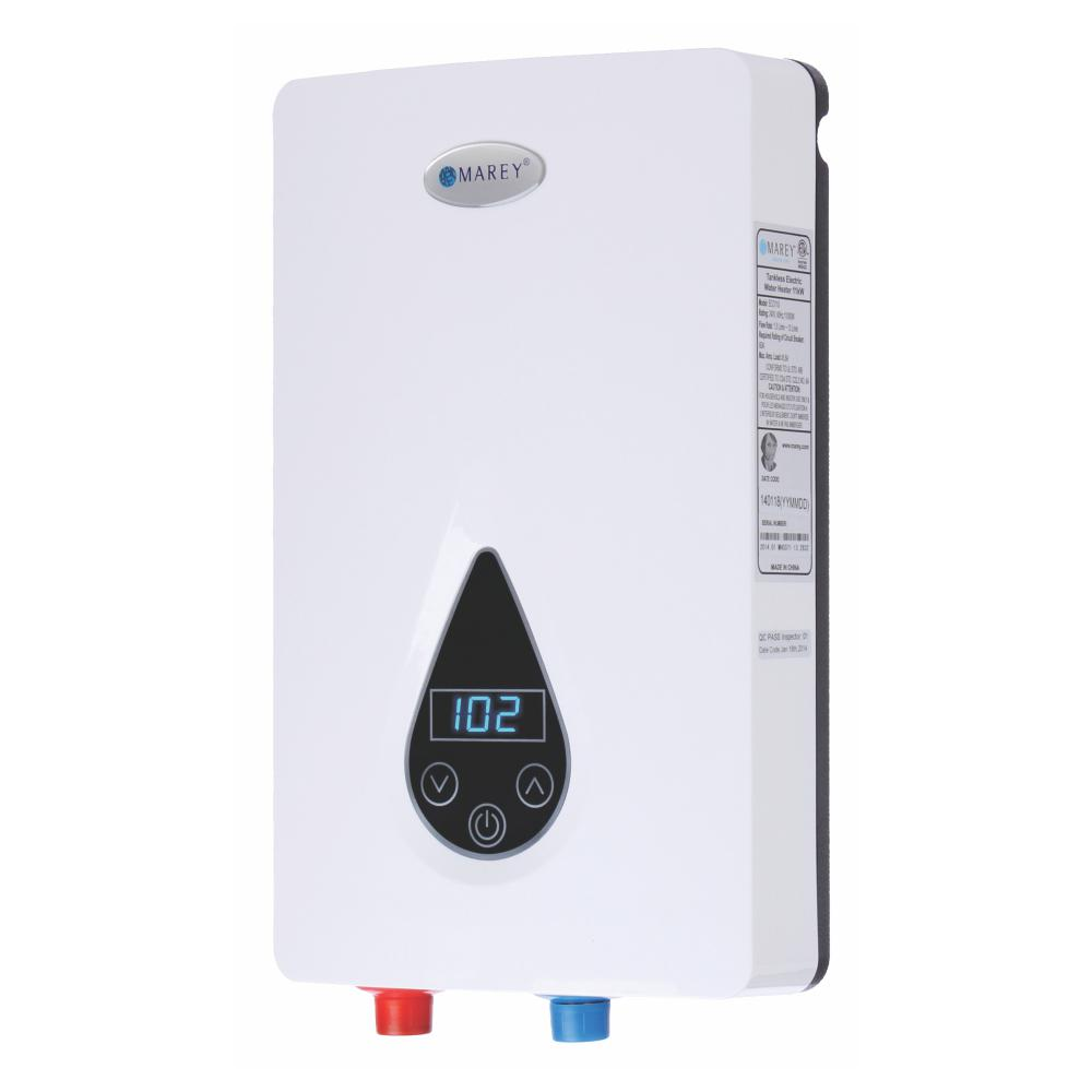 Marey 220 Volt Self Modulating 14 6 Kw 3 5 Gpm Multiple Points Of Use Tankless Electric Water