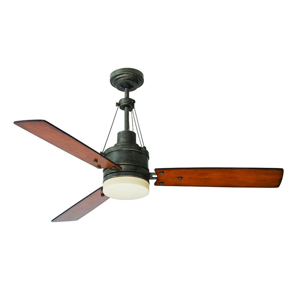 Illumine Zephyr 54 in. Indoor Vintage Steel Ceiling Fan