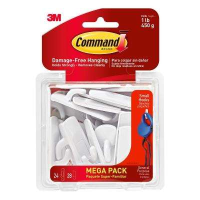 White Small Utility Hook (24-Hook/28-Strip per Pack)