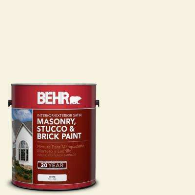 1 gal. #BWC-03 Lively White Satin Interior/Exterior Masonry, Stucco and Brick Paint
