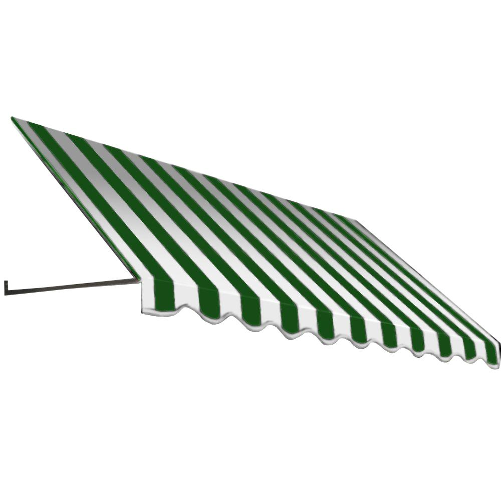 AWNTECH 16 ft. Dallas Retro Window/Entry Awning (24 in. H x 42 in. D) in Forest/White Stripe