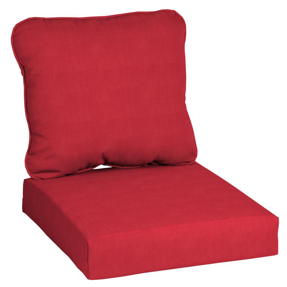 CushionGuard Ruby 2-Piece Deep Seating Outdoor Lounge Chair Cushion